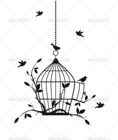 bird cage tattoo - Google Search