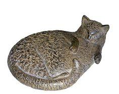 Bronze cat sculpture by Dutch artist Barbara de Clercq (b. 1948)