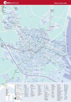 Valencia Metro Map Map of the Underground System in Valencia Spain