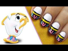 Be our guest! Put this nail design to the test!  Mrs. Potts and Chip, the unforgettable tea set duo from Disney's Beauty and the Beast, inspire this exclusive CutePolish nail art tutorial.      A Disney Exclusive from http://YouTube.com/user/CutePolish.    Let us know what your favorite nail style is in the comments below.    SUBSCRIBE to get notified...