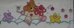 Ponto cruz bebê: parte 3 de lençol de berço-6