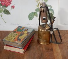 Vintage Brass Primus Paraffin Blow Lamp, Blow Torch, Oil Lamp, Rustic display,  Boho, Shabby Chic, Collectable, Rustic Prop. by Route46Vintage on Etsy