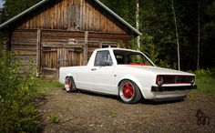 "MK1 VW Rabbit Truck - Bags,1.9TDic,g60 brakes and 7""/9""x15 bbs rf."