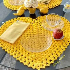 Thumb Que tal  um lindo jogo americano de crochê?pra sua mesa?