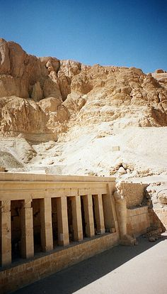 The Mortuary temple of Hatshepsut, who ruled Egypt from around 1479 BC until her death in 1458 BC, is situated on the west bank of the Nile. It is a colonnaded structure, which was designed and implemented by Senemut, the royal architect of Hatshepsut, to serve for her posthumous worship and to honor the glory of Amun.