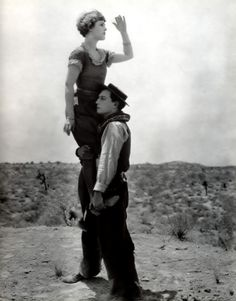 Buster Keaton and co-star, Go West