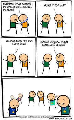 Medalla de plata. Viñeta por Cyanide and Happiness.