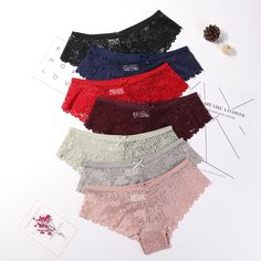 3 Pcs Panties for Woman Underwear Sexy Lace Breathable Soft Lingerie Winter Coats Women, Coats For Women, Pyjamas, Nylons, Blue And Green, Sexy, Bikini, Culottes, Models
