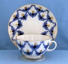 "Lomonosov Russian Porcelain ""Evening Time""  Tea Cup and Saucer"