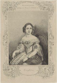 Queen Sophie of The Netherlands, princess of Württemberg, J. Koole, Koole  Roest, 1839 - c. 1841