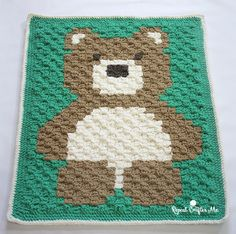 Free crochet pattern: C2C Bear afghan chart