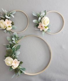 Floral Hoop Wreaths, Nursery Hoop Wreaths, Set of 3 Wreaths, Wedding Floral Wreaths, Hoop Wreaths - Bridal shower decorations - Blumenkranz Boho Nursery, Girl Nursery, Nursery Decor, Floral Nursery, Wire Flowers, Plastic Flowers, Bridal Flowers, Wedding Wreaths, Wedding Decorations