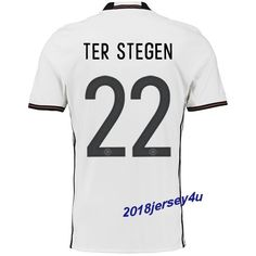 6ee128281 Marc-Andre ter Stegen 22 UEFA Euro 2016 Germany Home Jersey