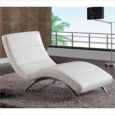 Global Furniture Ultra Bonded Leather/Metal Chaise Lounge...