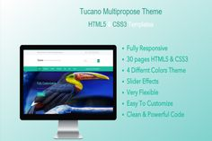 Tucano – HTML5 Responsive Template by go-bootstrap on @creativework247
