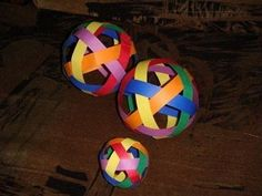 Weave A Ball · How To Make A Decorative Light · Papercraft on Cut Out + Keep Fun Crafts, Paper Crafts, Art Projects, Projects To Try, Dot Day, Origami Ball, Paper Balls, Maori Art, Weaving Process