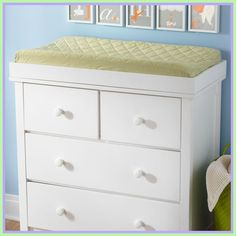 Changing Table Dresser Topper Home Furniture Design. White Dresser With Changing Table Top ~ BestDressers Home and Family White Changing Table, Changing Table Topper, Baby Changing Tables, Dresser Shelves, Dresser Top, Baby Changer, Cast Iron Kitchen Sinks, Changing Table Dresser, Curtains With Blinds