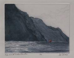 High wind Lake Garda                    Drypoint                 Edition of 10