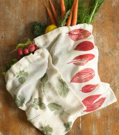 make your own reusable produce bags:) these would make great gifts too!!