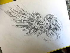 Fantasy Wing Commission by Lucky978.deviantart.com on @DeviantArt