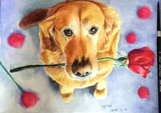 Paintings, Dogs, Animals, Animales, Paint, Animaux, Painting Art, Animal Memes, Painting