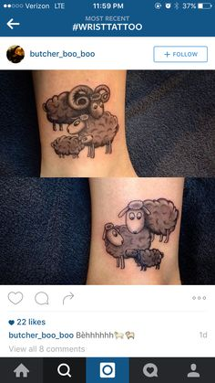 Sheep wrist tattoo