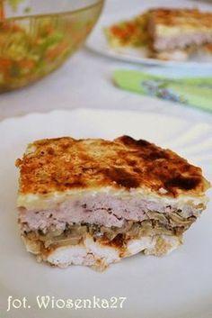 Zdjęcie: Przekładaniec mięsno-pieczarkowy z serem