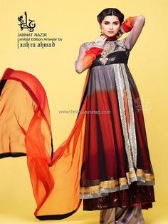 Jannat Nazir Party Wear Dresses 2013 for Ladies 004