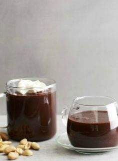 Spicy Hot Chocolate. For those days when all you want to do is put on your pajamas and watch TV with a light dessert!