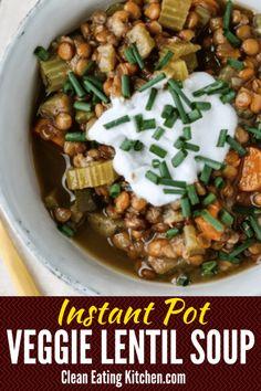 Instant Pot lentil s