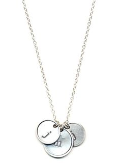Rimmed Initial Stamped Necklace