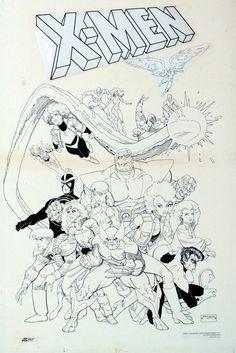 I love the 80′s X-Men by Art Adams
