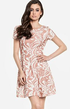pretty retro inspired filigree patterned dress ++