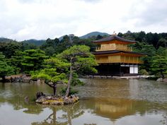 One of the world heritage sites in Kyoto, real gold on the temple