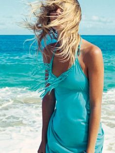 Turquoise | Aqua | Teal | beach outfit, sea, vacation