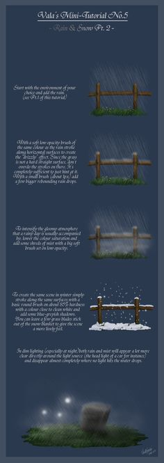 Mini-Tutorial No.5 - Rain and Snow Pt.2 - by ValaSedai on deviantART