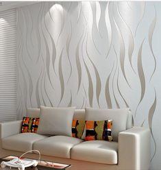 Aliexpress.com: Compre Moderno papel de parede em relevo 3D papel de parede sala cama tv wall roll papel característica texturizada home decoração de confiança cortador de papel fornecedores em yuan y's store