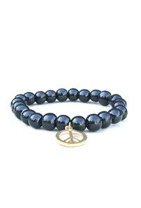 Bijouterie Black Wood Peace Charm Bracelet