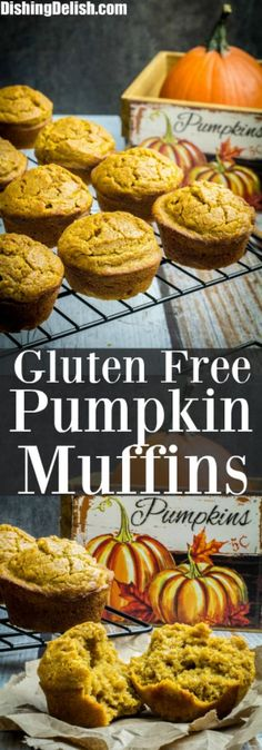 Gluten free pumpkin muffins made with gluten free flour