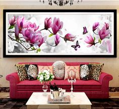 Arts,crafts & Sewing Radient Flower 14ct Diy Handmade Needlework Counted Cross Stitch Set Embroidery Kit Chinese Pattern Cross-stitching Home Decor Bedroom Fine Craftsmanship