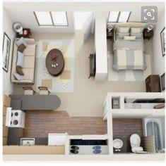 Studio apartment layout 47 Ideas apartment studio layout floor plans garage - d Studio Apartments, Studio Apartment Floor Plans, Studio Floor Plans, Cool Apartments, Small Apartment Layout, Studio Apartment Layout, Studio Apartment Decorating, Apartment Interior Design, Apartment Ideas