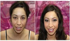 Glamorous Before and After! Make up by Beauty in Vegas  #NikkiSegal #BeautyinVegas
