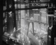 """Metropolis"" - great montage sequences and a unique world. Influenced many forthcoming sci-fi works."