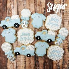Vintage trucks for a baby shower #customcookies #decoratedcookies #dfw #dallas #fortworth