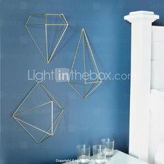 Metallwand Kunst-Wanddekor, der 3D-Geometrie-Wand-Dekor-Set von 3 - EUR € 99.99