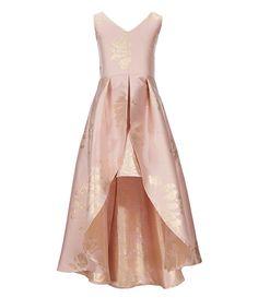 9a511c6036e6 Rare Editions Big Girls 7-16 Metallic Floral High-Low Dress