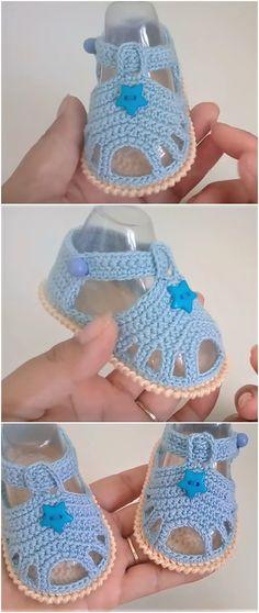 Crochet Baby Sandals (Unisex) - We Love Crochet Crochet Baby Sandals (Unisex) - We Love Crochet Crochet Baby Sandals, Crochet Shoes, Crochet Slippers, Love Crochet, Crochet Dolls, Booties Crochet, Easy Crochet Patterns, Baby Patterns, Doll Patterns