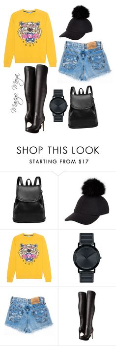 """Untitled #31"" by masego-moya ❤ liked on Polyvore featuring New Look, Kenzo, Movado and Sam Edelman"