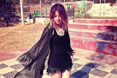 Red with a Twist Outfit Posts, Kimono Top, Pretty, Red, Outfits, Black, Women, Style, Fashion