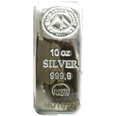 Nadir Silver Bar - 10 Ounce - VAT FREE